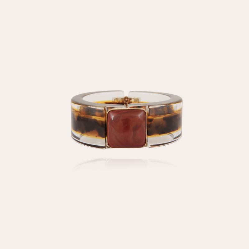 Arty Bis bracelet acetate gold - Tortoise