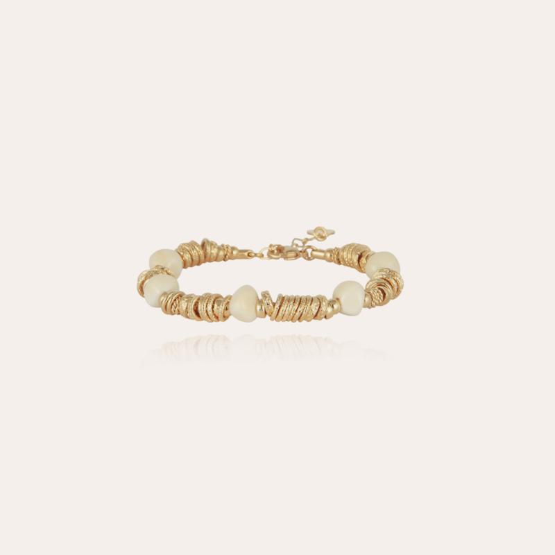Biba bracelet small size acetate gold - Ivory