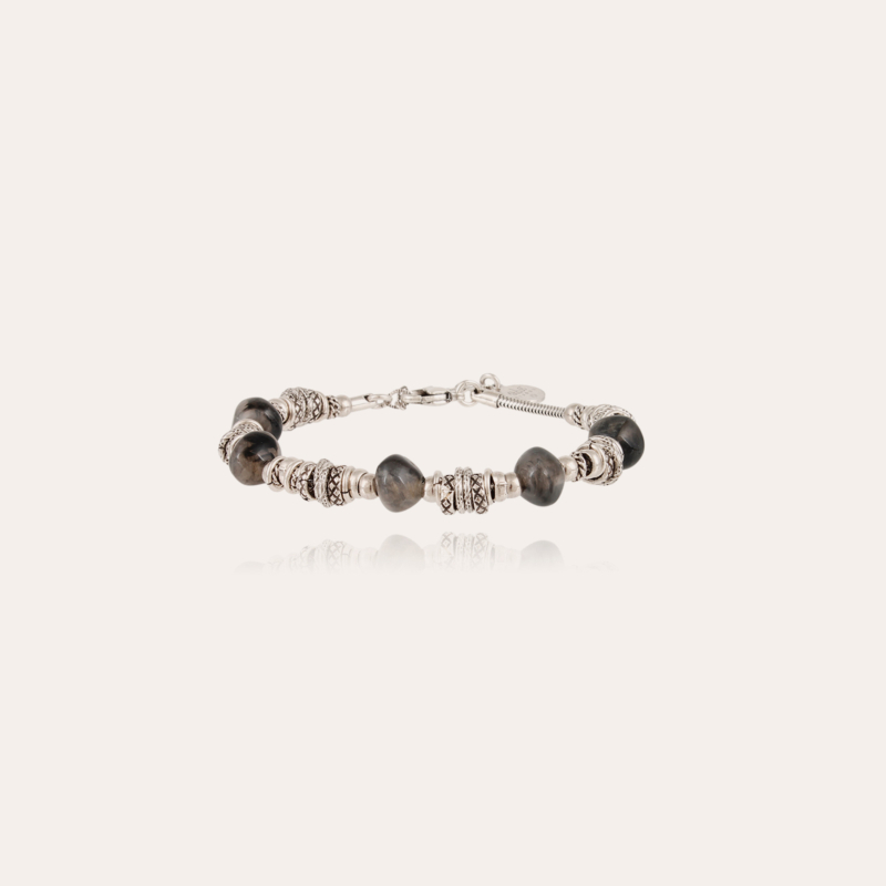 Biba bracelet small size acetate silver