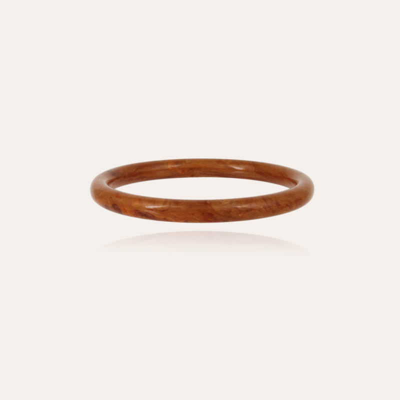 Caftan bracelet acetate gold - Cappuccino