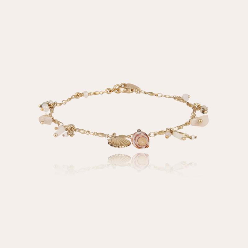 Foglia ankle bracelet gold