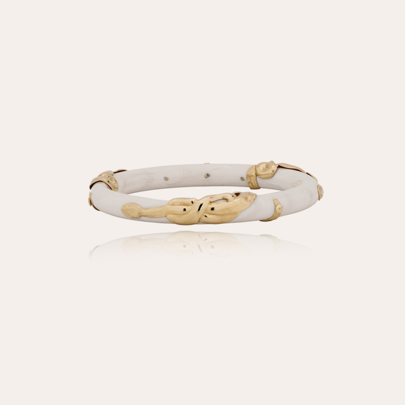 Cobra jonc bracelet acetate gold - Ivory