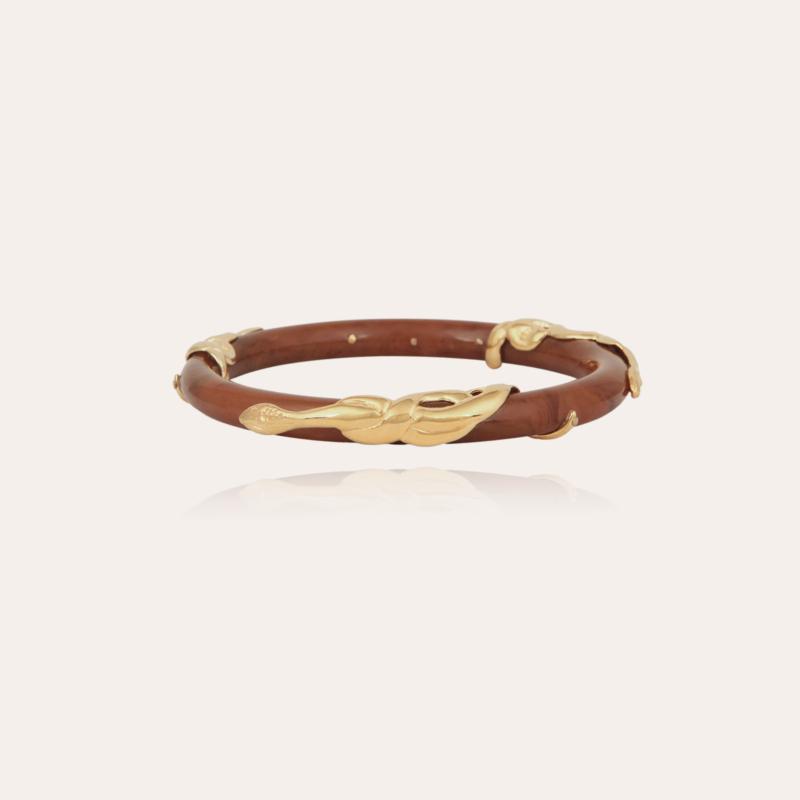 Cobra jonc bracelet acetate gold - Cappuccino
