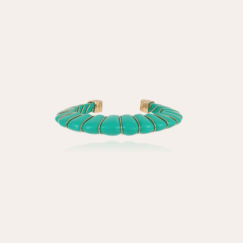 Cyclade bracelet acetate gold - Turquoise