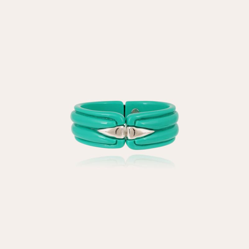 Ecume bracelet acetate silver - Turquoise
