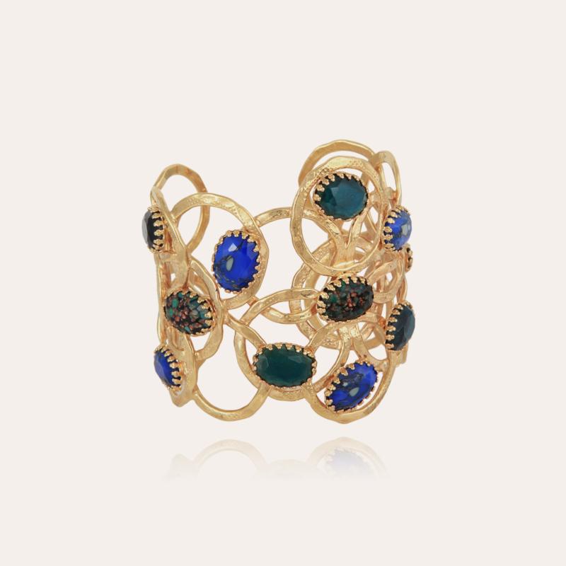 Olympie cabochons bracelet gold - Exclusive piece (2 pièces)