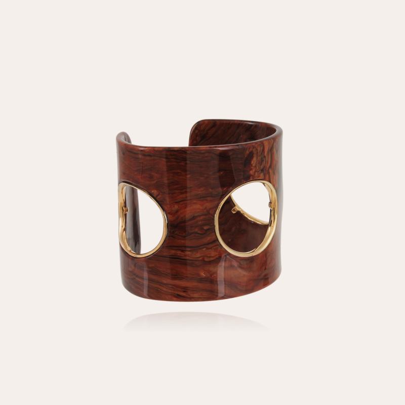 Padova bracelet acetate gold - Brown