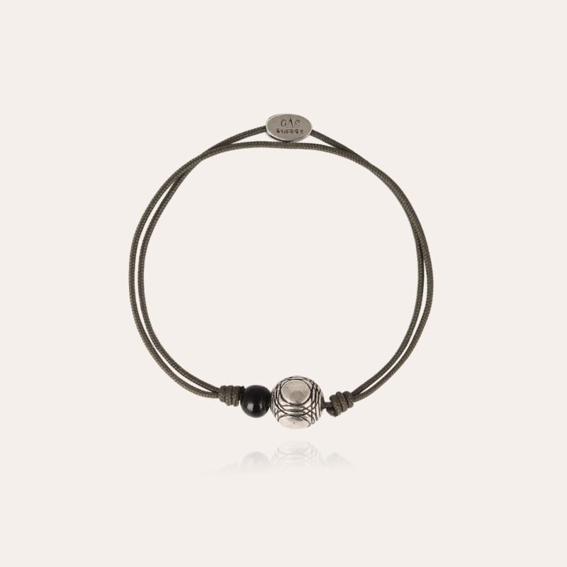 Petanque men bracelet silver