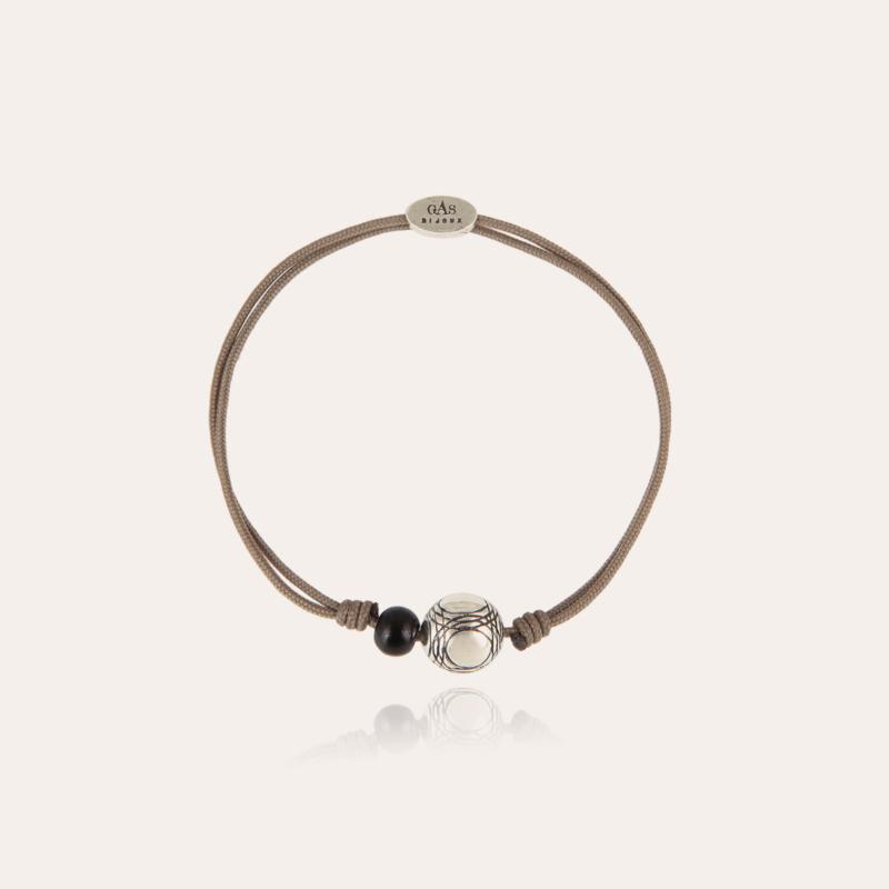 Petanque bracelet silver