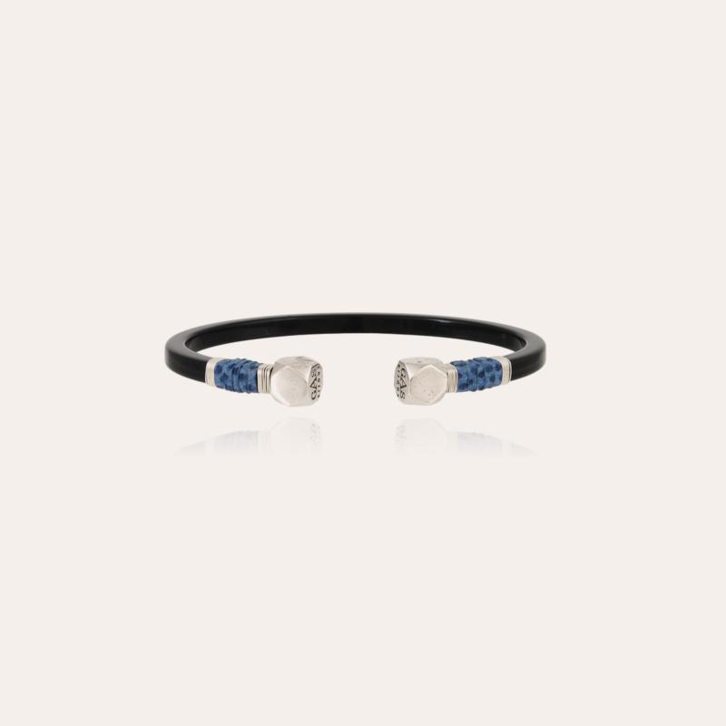 Sari Bis men bracelet acetate silver - Black