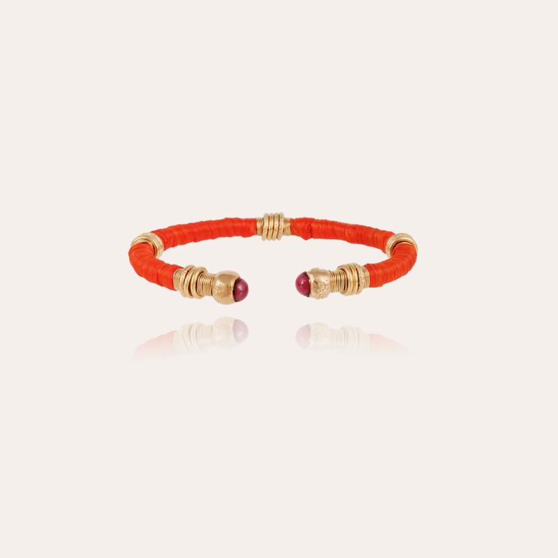 Sari raffia bracelet gold