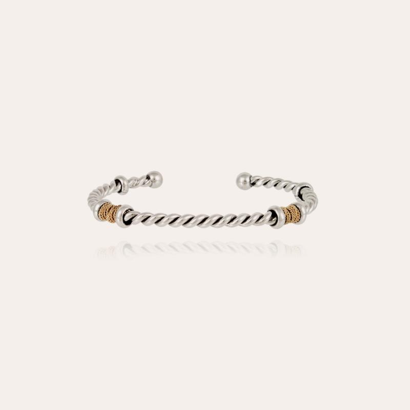 Torsade men bracelet bicolor