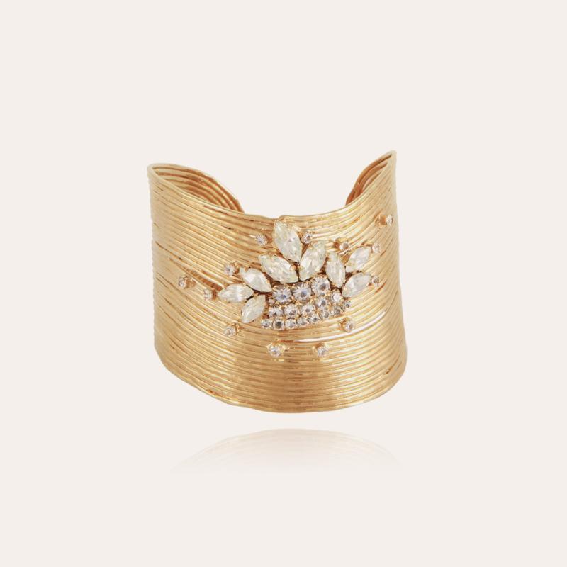 Wave strass bracelet gold
