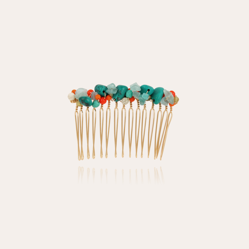 Calliope Serti hair jewelry large size gold