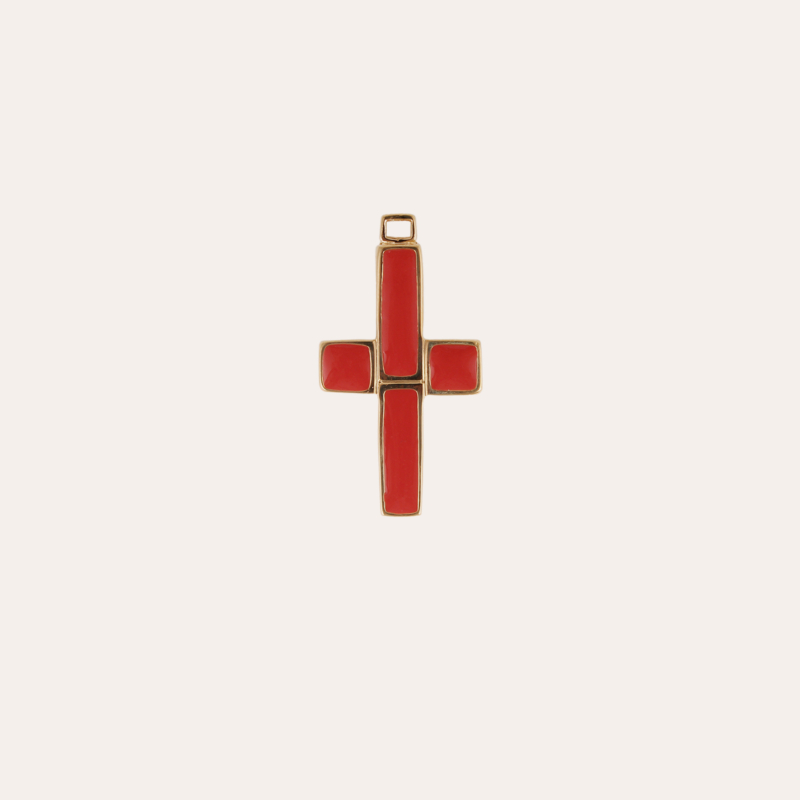 Croix enamel Charms Constantine gold