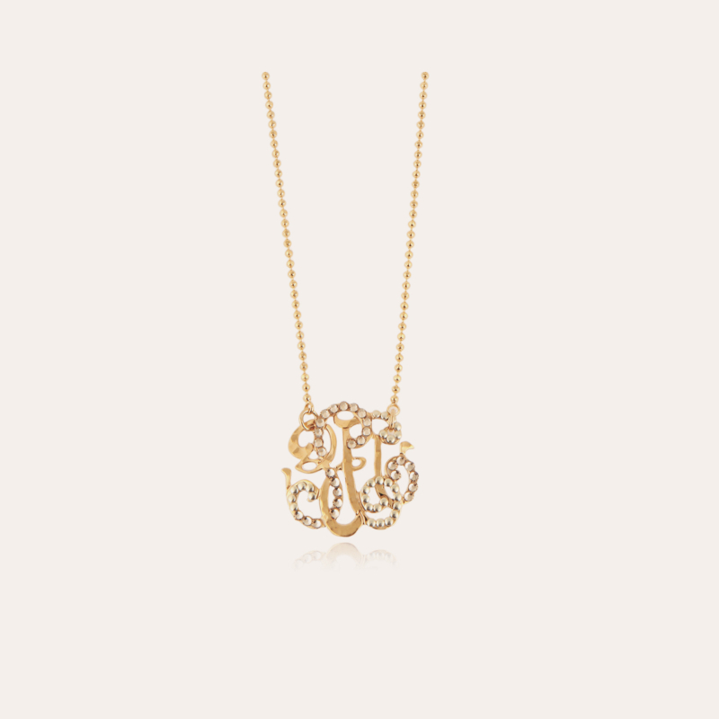Arabesque necklace small size gold