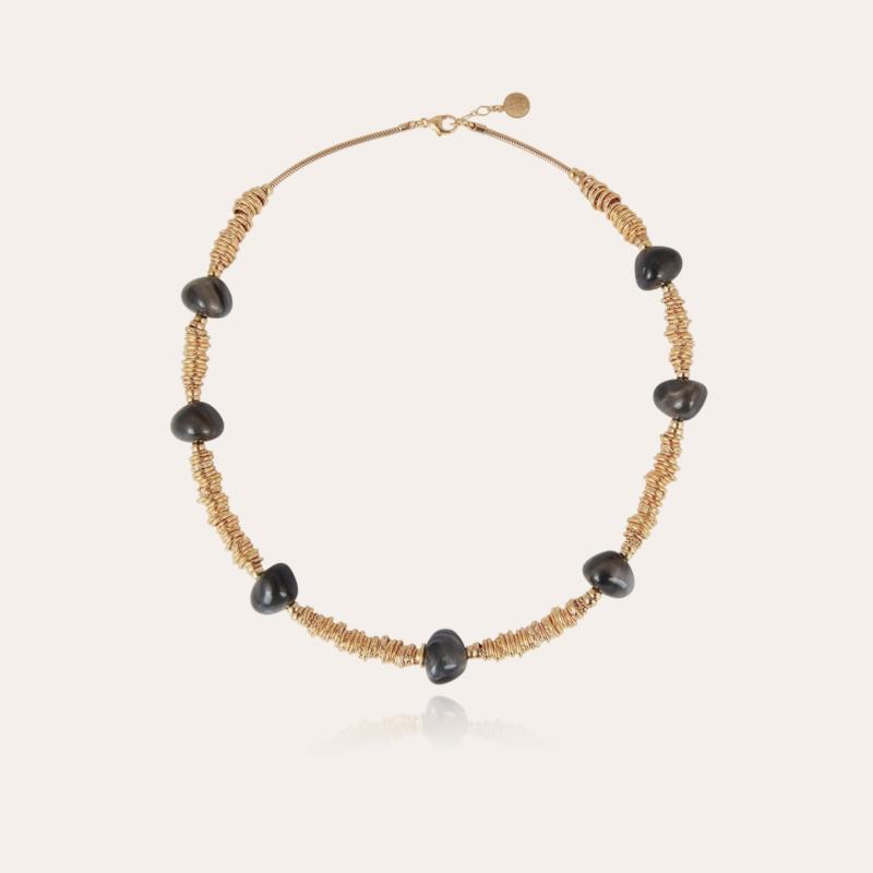 Biba necklace gold - Grey