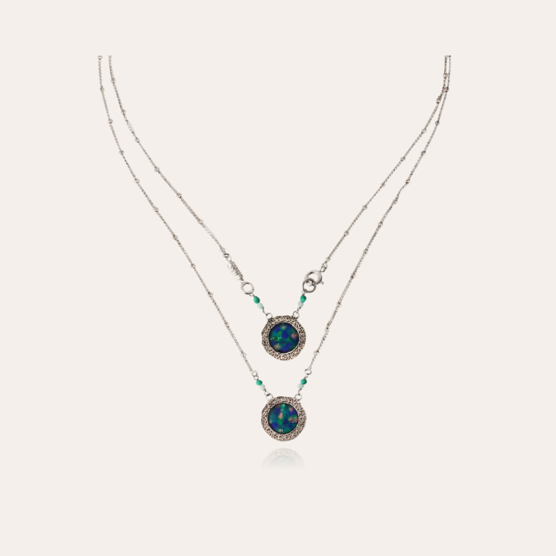 Illusion Scapulaire necklace silver