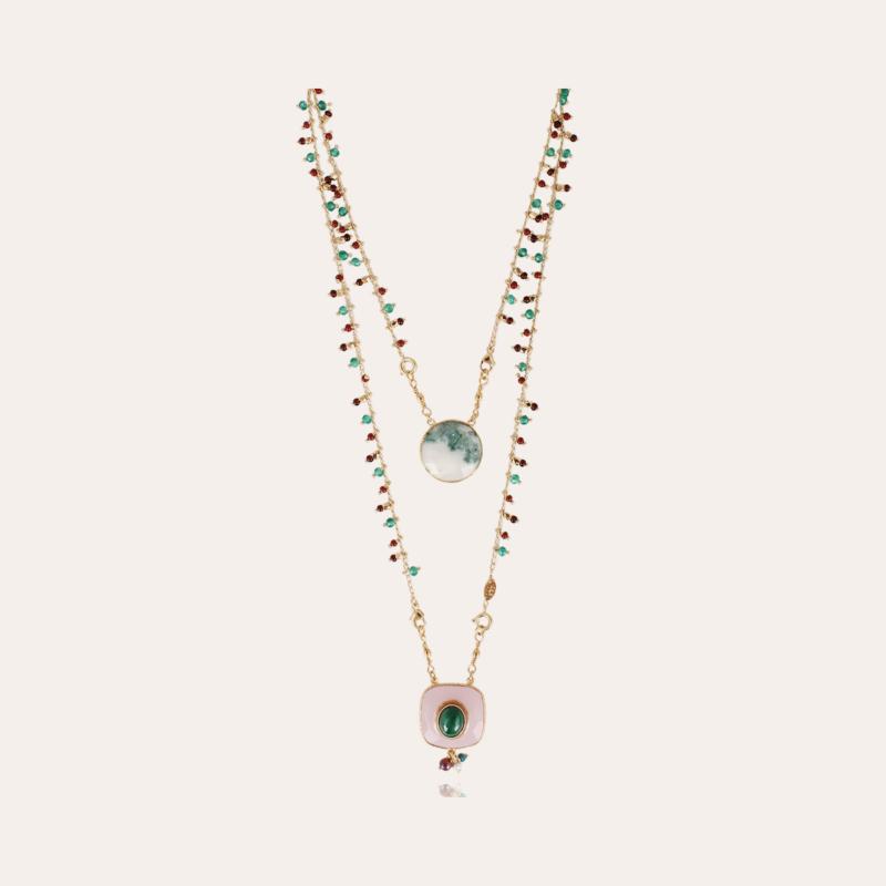 Scapulaire Serti necklace gold - Exclusive piece (4 pieces)