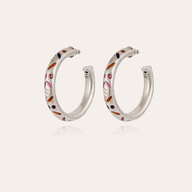 Bari hoop earrings silver