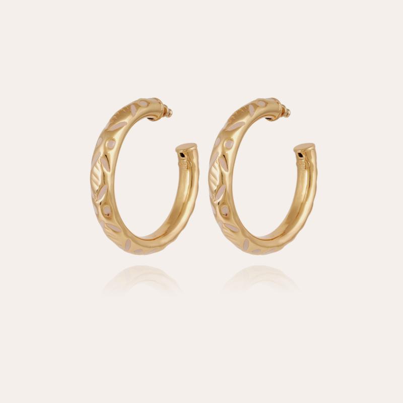 Bari hoop earrings gold