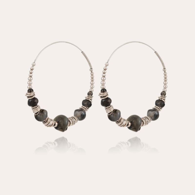 Biba hoop earrings acetate silver