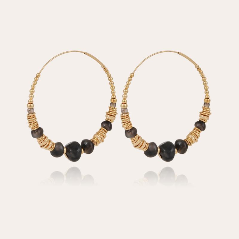 Biba hoop earrings gold - Grey