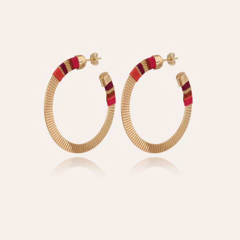 Disco Massai hoop earrings small size gold