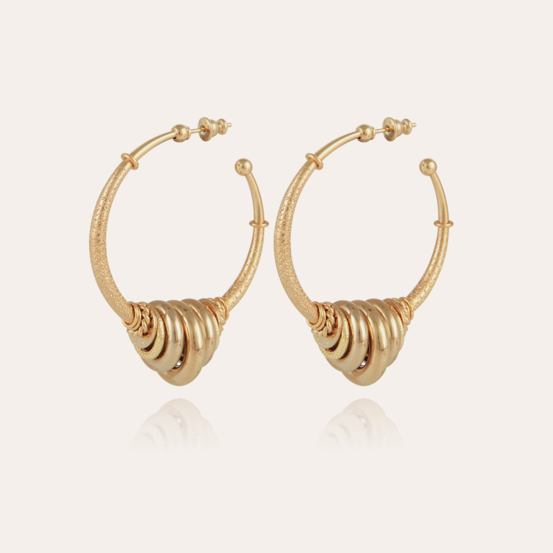 Maranzana hoop earrings gold
