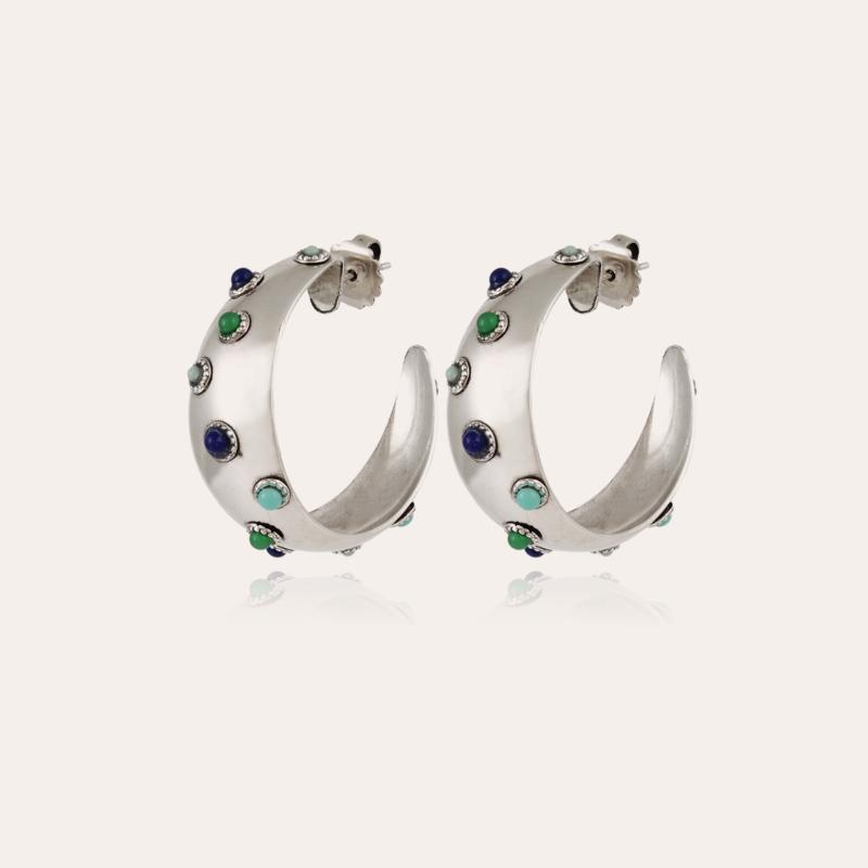 Leontia hoop earrings small size silver