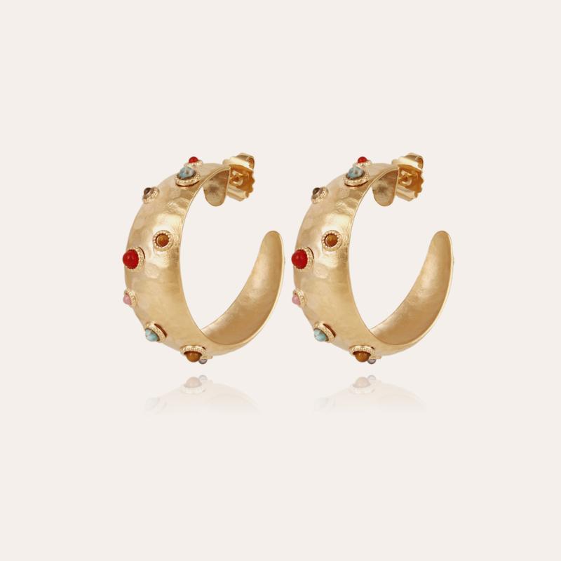 Leontia hoop earrings small size gold