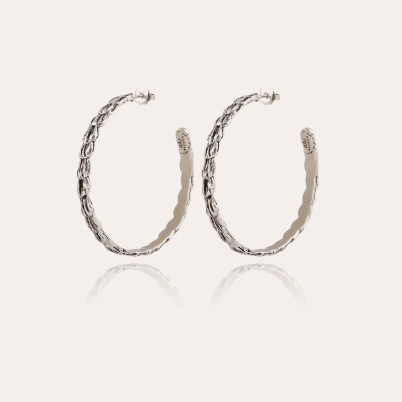 Liane hoop earrings silver