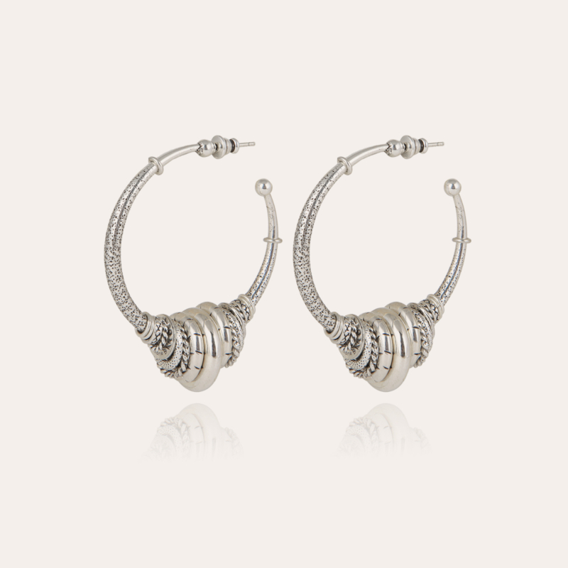 Maranzana hoop earrings silver