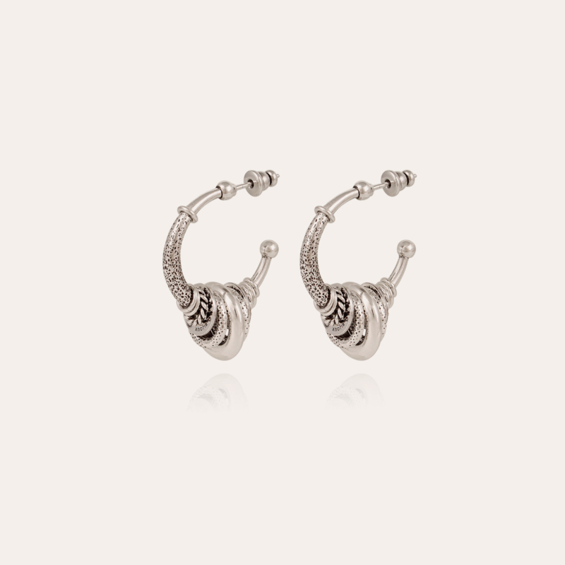 Maranzana hoop earrings small size silver
