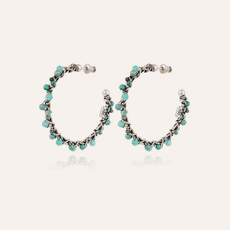 Orphee hoop earrings silver