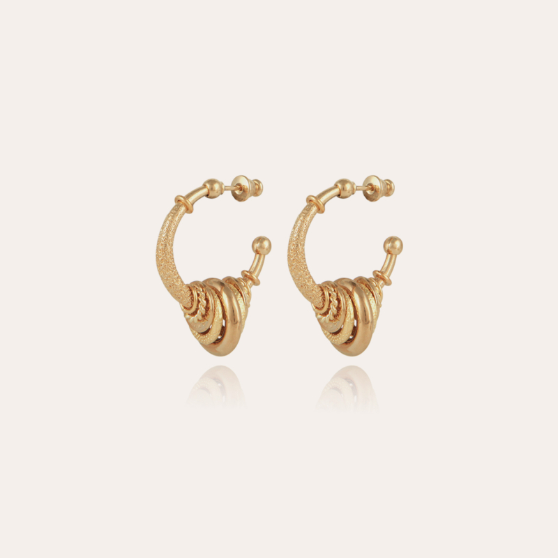 Maranzana hoop earrings small size gold