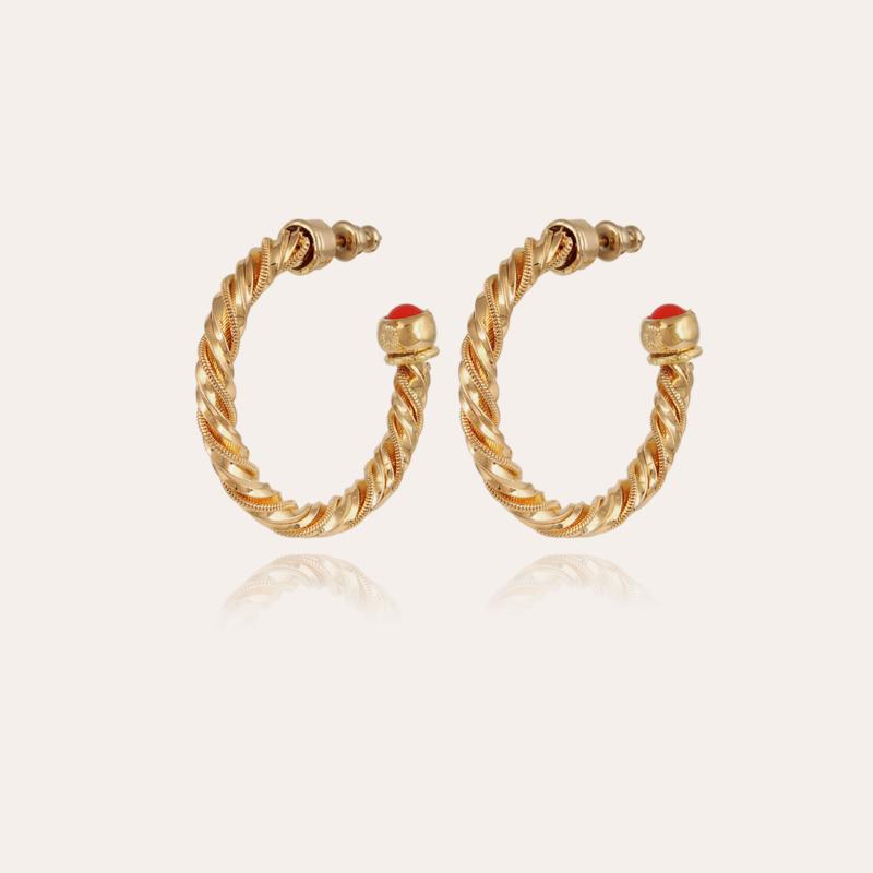Torride hoop earrings small size gold