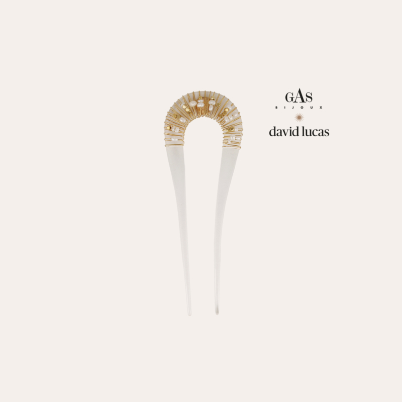 Caliste hair jewelry acetate gold - Clear
