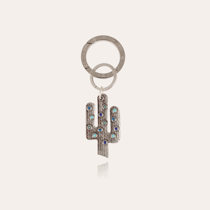 Cactus key ring silver