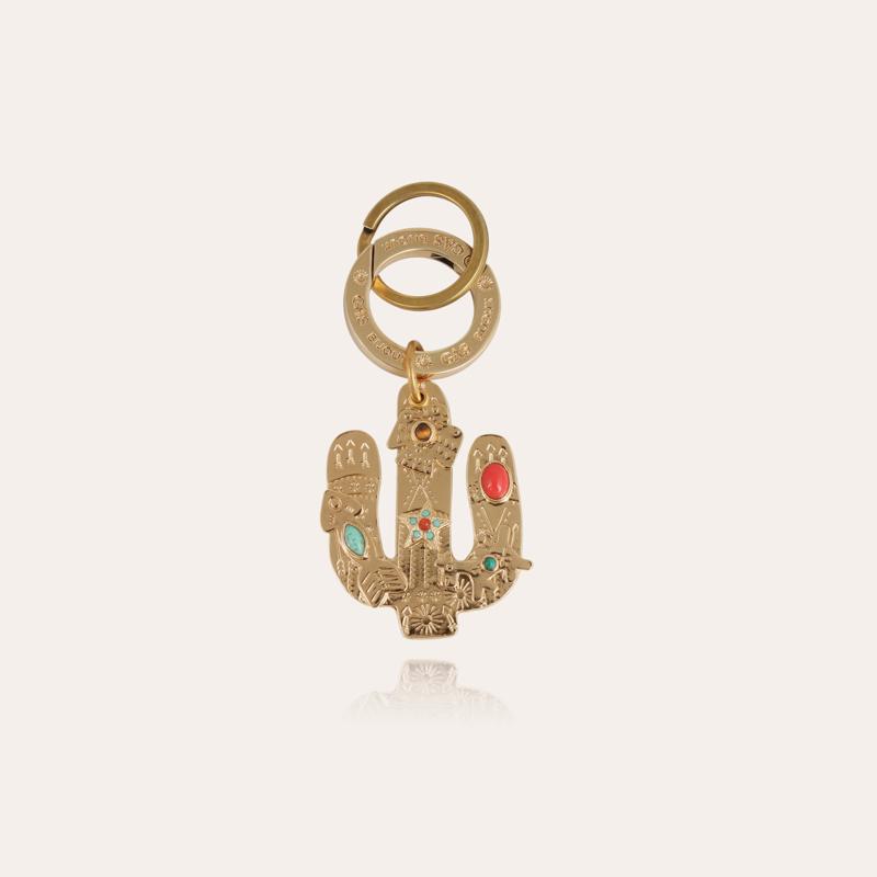 Cactus key ring gold