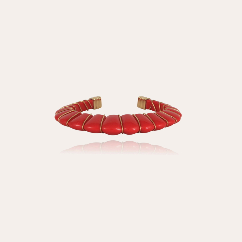 Cyclade bracelet gold - Coral