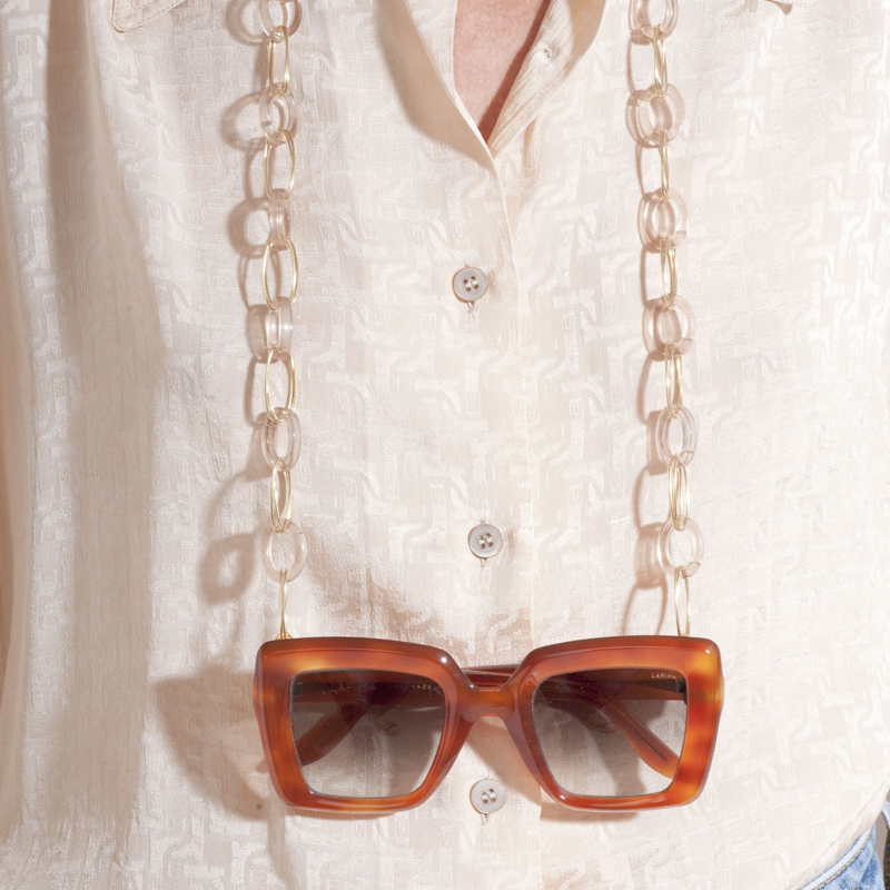 Escale necklace Glasses Chain large size acetate gold
