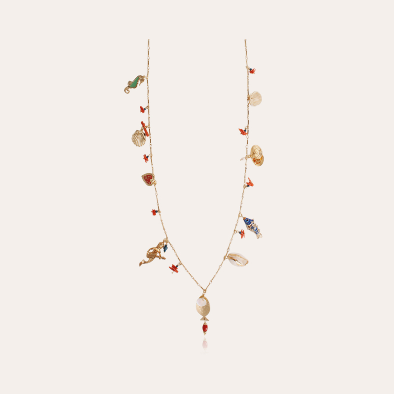 Lovely long necklace gold - Exclusive piece (4 pieces)