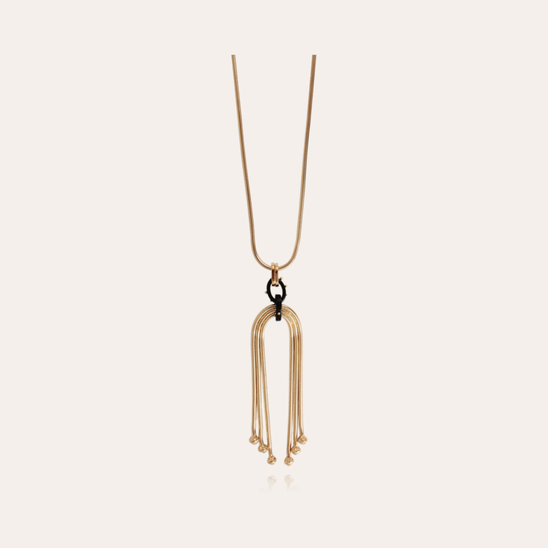 Mamba long necklace gold