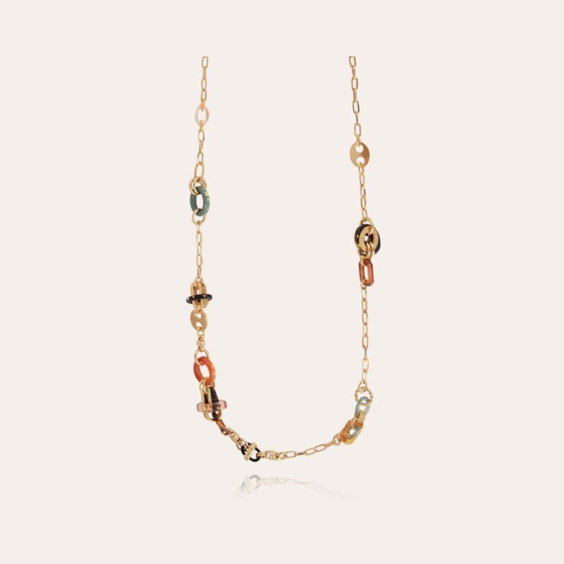 Prato long necklace acetate gold