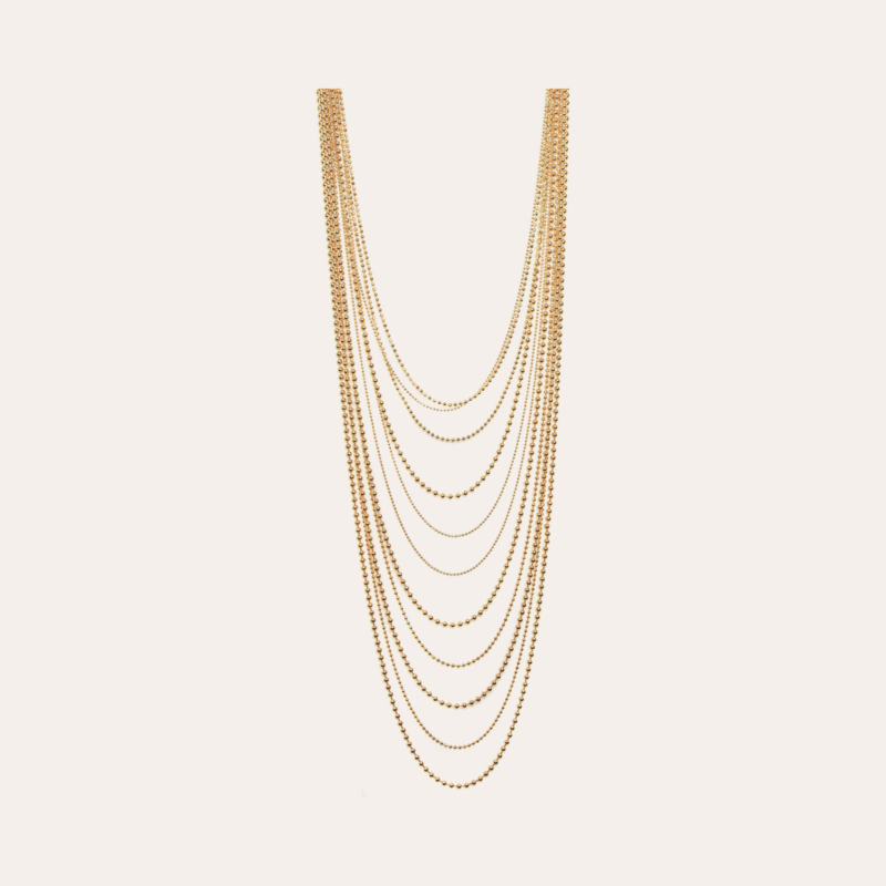 Romeo long necklace gold
