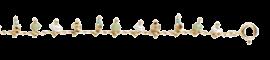 Pondicherie chain gold - Sea-green