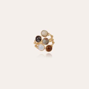Duality Multi Serti ring gold