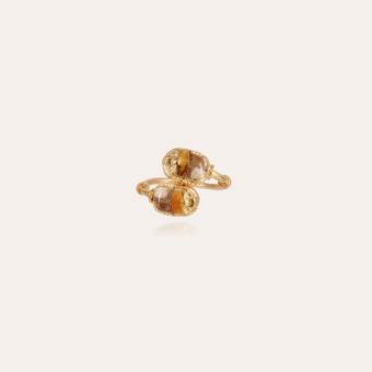 Duality Scaramouche enamel ring gold