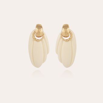 Alba earrings gold - Ivory